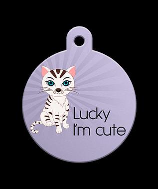 Petfetch Wink Emoji Pet Tag - Fun Pet Tags - Emoji Pet Tags - PetfetchID